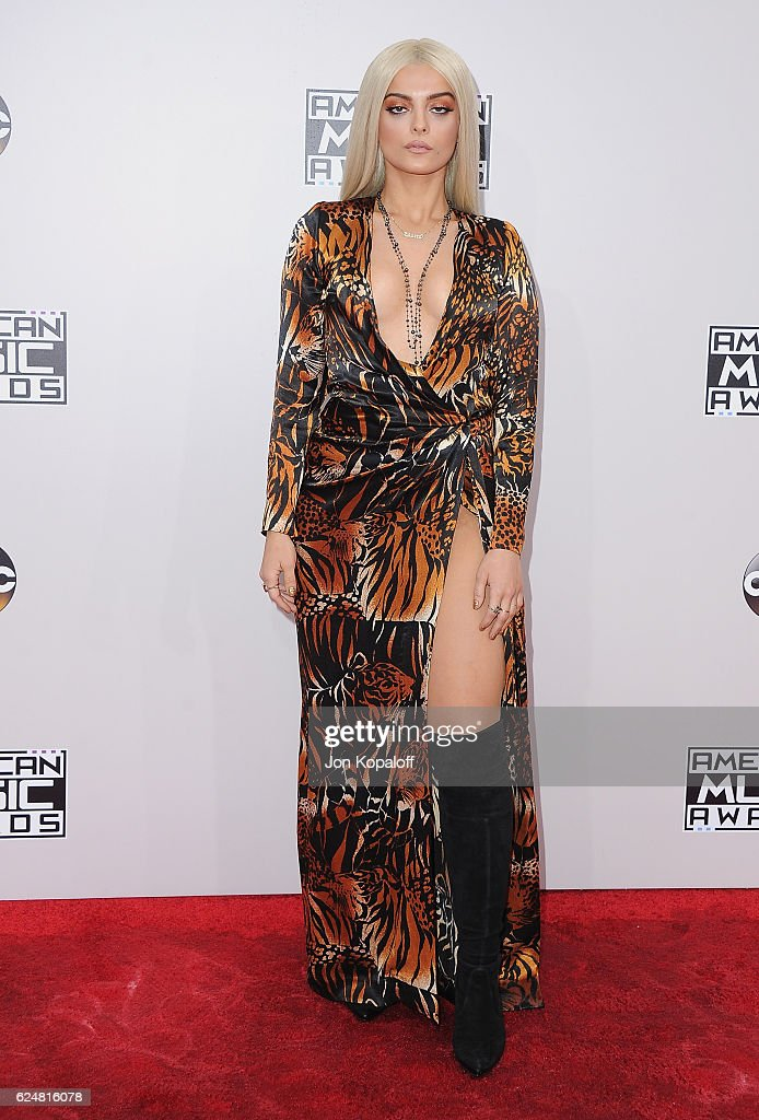 Singer Bebe Rexha arrives at the 2016 American Music Awards at Microsoft Theater on November 20, 2016 in Los Angeles, California.