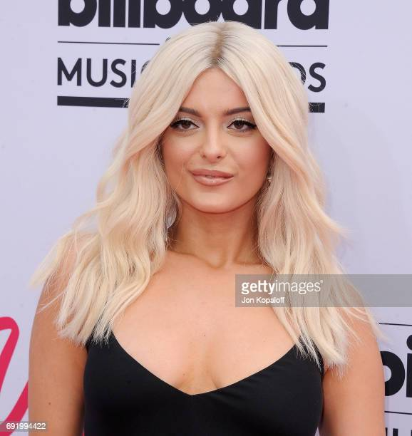Singer Bebe Rexha arrives at the 2017 Billboard Music Awards at TMobile Arena on May 21 2017 in Las Vegas Nevada