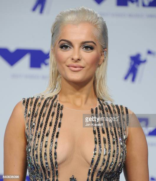 Singer Bebe Rexha arrives at the 2017 MTV Video Music Awards at The Forum on August 27 2017 in Inglewood California