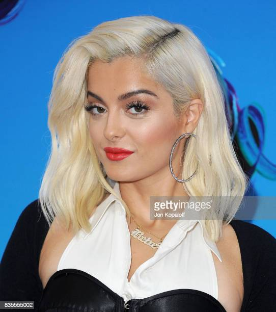 Singer Bebe Rexha arrives at the Teen Choice Awards 2017 at Galen Center on August 13 2017 in Los Angeles California