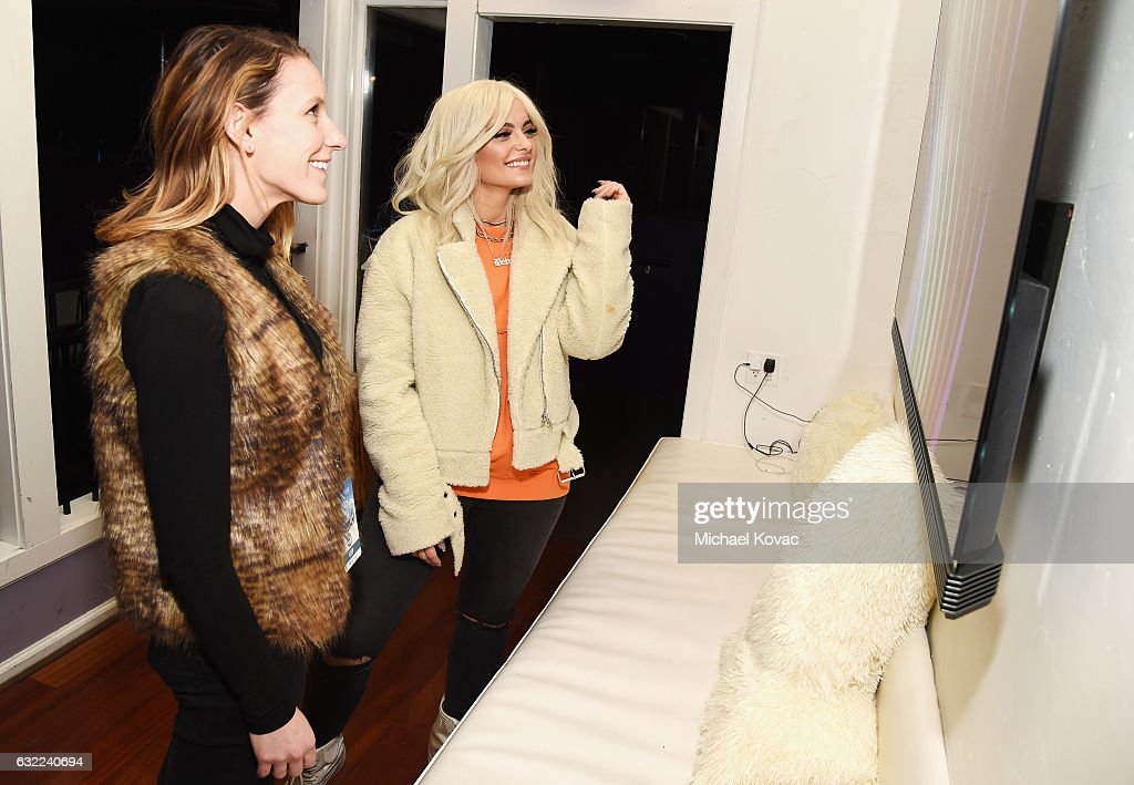 Singer Bebe Rexha (R) attends Park City Live Presents The Hub Featuring The Marie Claire Studio and the 4K ULTRA HD Showcase Brought to You by the Consumer Technology Association on January 20, 2017 in Park City, Utah.