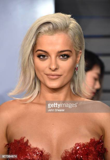 Singer Bebe Rexha attends the 2018 Vanity Fair Oscar Party hosted by Radhika Jones at Wallis Annenberg Center for the Performing Arts on March 4 2018...