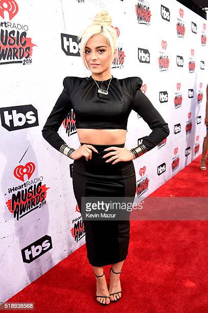 Singer Bebe Rexha attends the iHeartRadio Music Awards at The Forum on April 3 2016 in Inglewood California