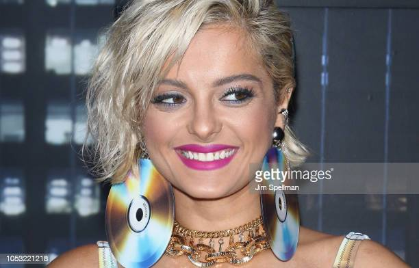 Singer Bebe Rexha attends the Moschino x HM show at Pier 36 on October 24 2018 in New York City