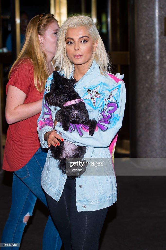 Singer Bebe Rexha is seen in Midtown on August 4, 2017 in New York City.
