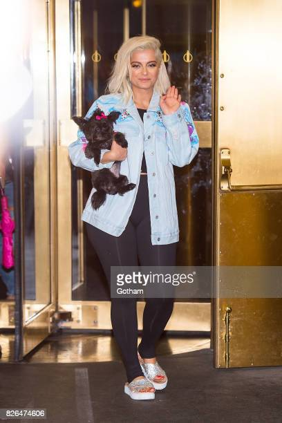 Singer Bebe Rexha is seen in Midtown on August 4 2017 in New York City