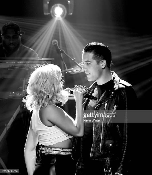 Singer Bebe Rexha L0 and rapper GEazy perform onstage during iHeartRadio LIVE with Bebe Rexha presented by Forever 21 at iHeartRadio Theater on...