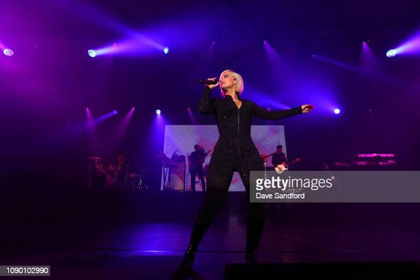 Singer Bebe Rexha performs at the 2019 NHL AllStar Saturday Night Party at the San Jose Convention Center on January 26 2019 in San Jose California