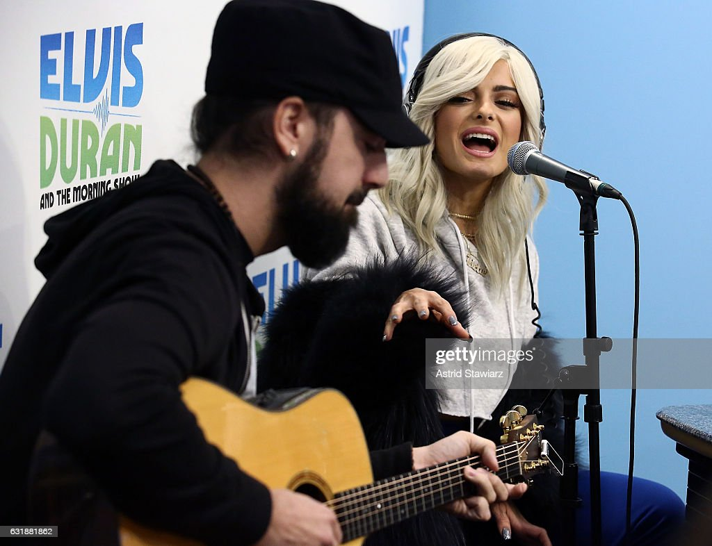 Singer Bebe Rexha performs during'The Elvis Duran Z100 Morning Show' at Z100 Studio on January 17, 2017 in New York City.
