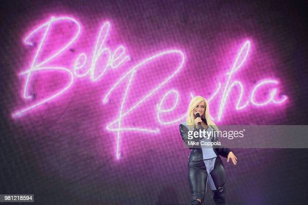 Singer Bebe Rexha performs on ABC's Good Morning America at SummerStage at Rumsey Playfield Central Park on June 22 2018 in New York City