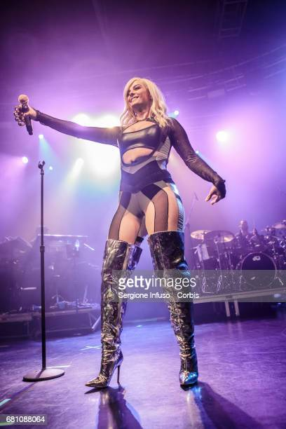 Singer Bebe Rexha performs on stage at Fabrique Club on May 9 2017 in Milan Italy