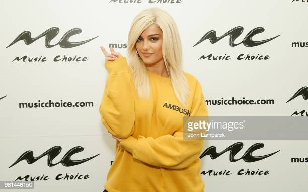 Singer Bebe Rexha visits Music Choice at Music Choice on June 22 2018 in New York City