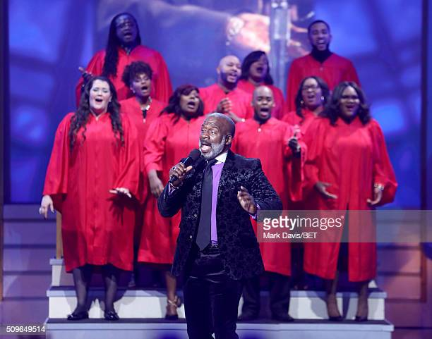 Singer Bebe Winans performs onstage during BET Celebration Of Gospel 2016 at Orpheum Theatre on January 9 2016 in Los Angeles California
