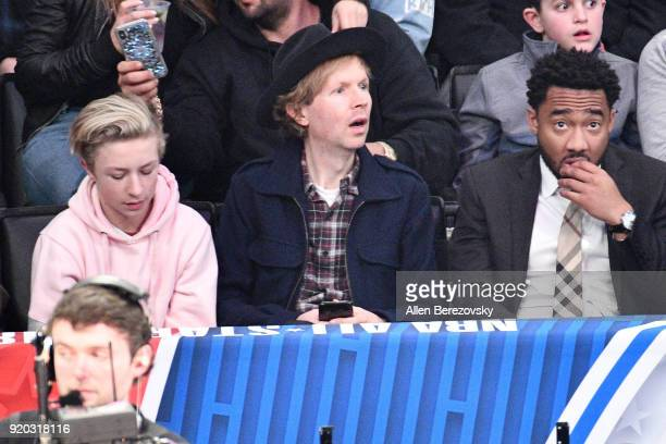 Singer Beck attends The 67th NBA AllStar Game Team LeBron Vs Team Stephen at Staples Center on February 18 2018 in Los Angeles California