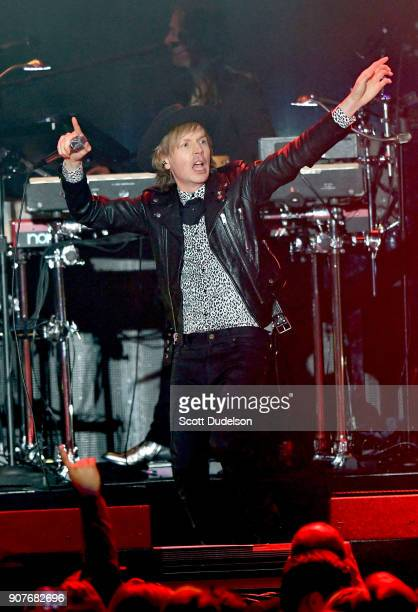 Singer Beck performs onstage during iHeartRadio ALTer EGO concert at The Forum on January 19 2018 in Inglewood California