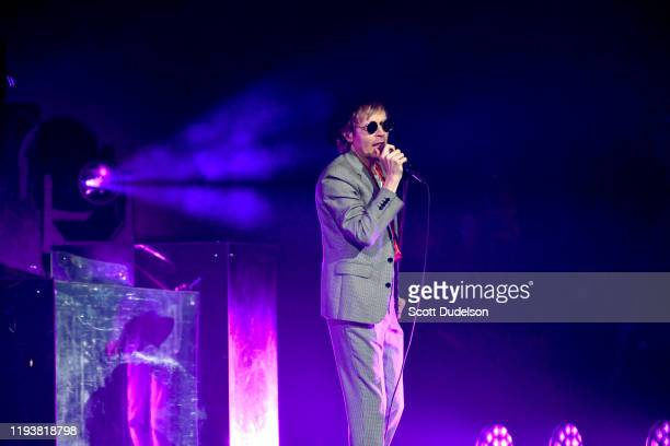 Singer Beck performs onstage during the KROQ Absolut Almost Acoustic Christmas 2019 at Honda Center on December 07 2019 in Anaheim California