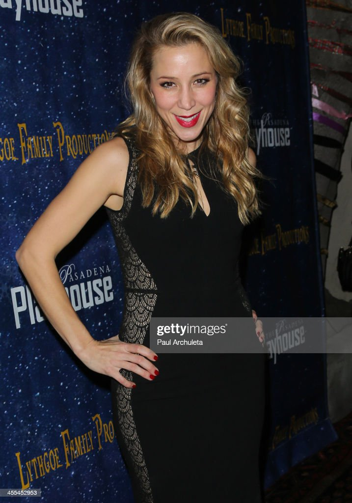 Singer Becky Baeling attends the opening night of 'Aladdin And His Winter Wish' at the Pasadena Playhouse on December 11, 2013 in Pasadena, California.