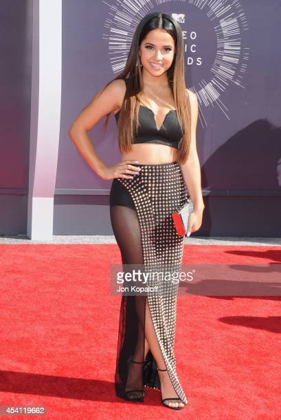 Singer Becky G arrives at the 2014 MTV Video Music Awards at The Forum on August 24, 2014 in Inglewood, California.