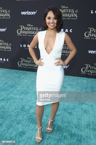 "Singer Becky G at the Premiere of Disney's and Jerry Bruckheimer Films' ""Pirates of the Caribbean Dead Men Tell No Tales"" at the Dolby Theatre in..."