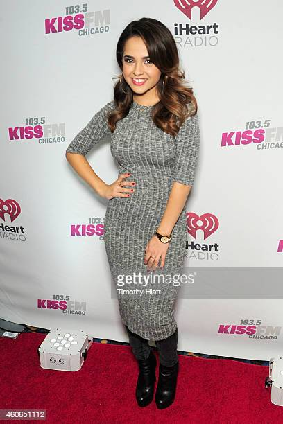 Singer Becky G attends 1035 KISS FM's Jingle Ball 2014 at Allstate Arena on December 18 2014 in Chicago Illinois