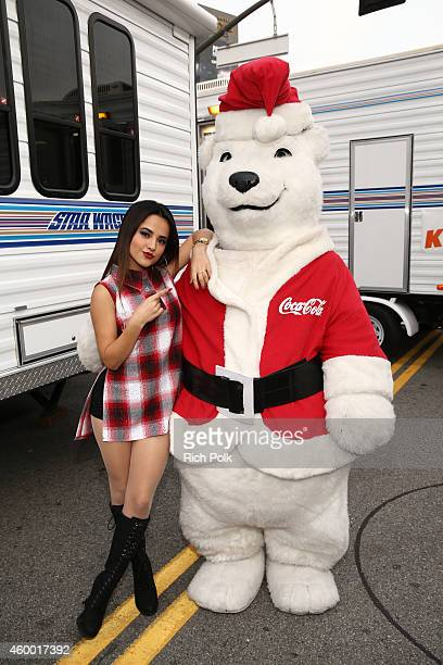 Singer Becky G attends KIIS FM Jingle Ball Village at Staples Center on December 5 2014 in Los Angeles California