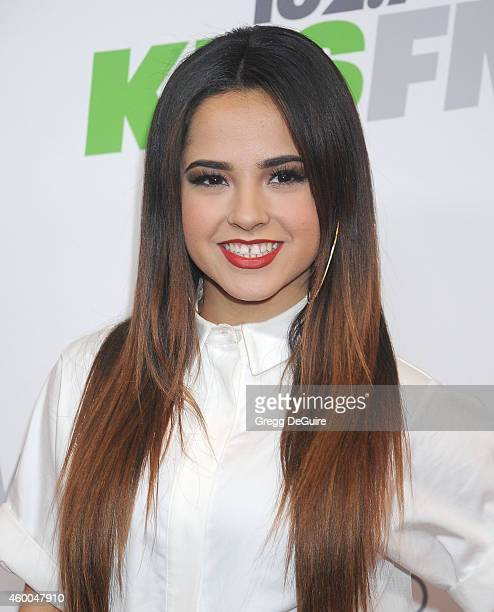 Singer Becky G attends KIIS FM's Jingle Ball 2014 powered by LINE at Staples Center on December 5 2014 in Los Angeles California