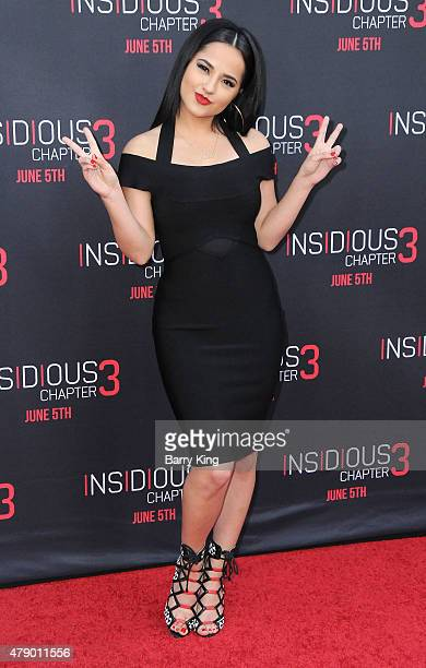 Singer Becky G attends the premiere of Focus Features' 'Insidious Chapter 3' at the TCL Chinese Theatre on June 4 2015 in Hollywood California