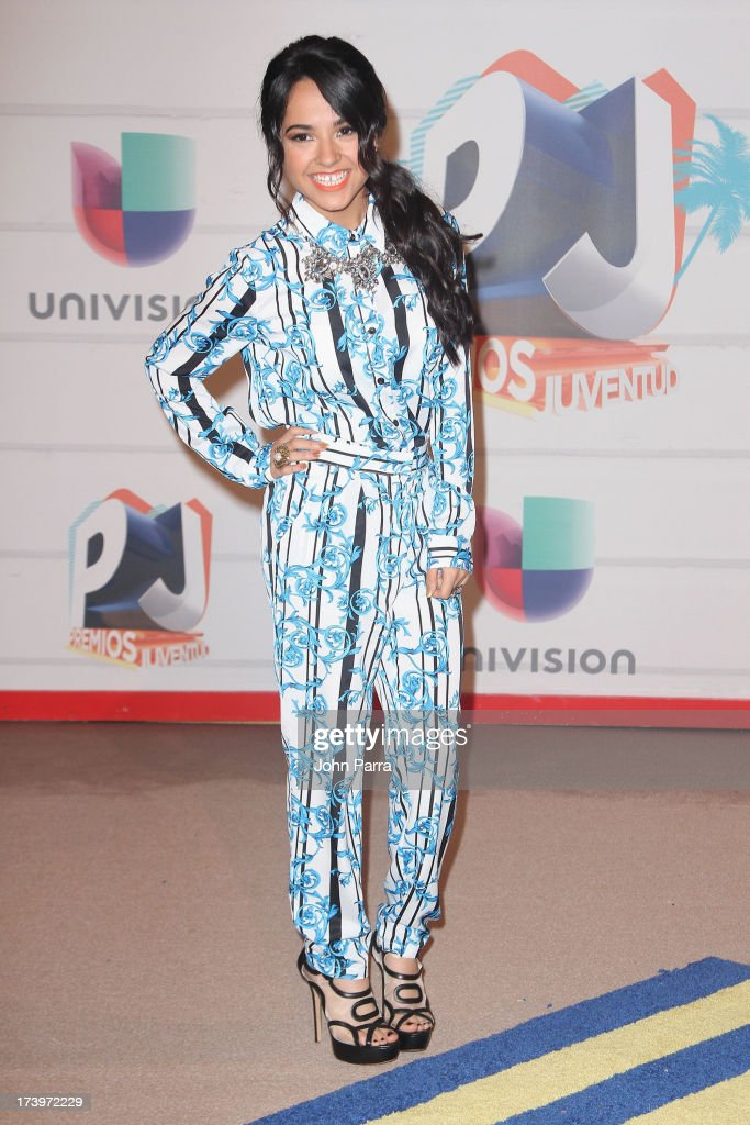 Singer Becky G attends the Premios Juventud 2013 at Bank United Center on July 18, 2013 in Miami, Florida.