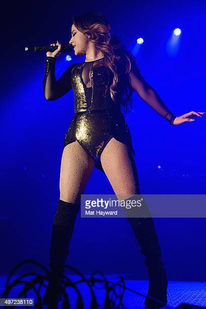 Singer Becky G performs on stage during the 106.1 KISS FM Fall Ball at WaMu Theater on November 14, 2015 in Seattle, Washington.