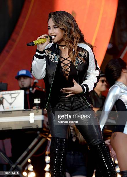 Singer Becky G performs onstage at the 2016 Global Citizen Festival in Central Park To End Extreme Poverty By 2030 at Central Park on September 24...