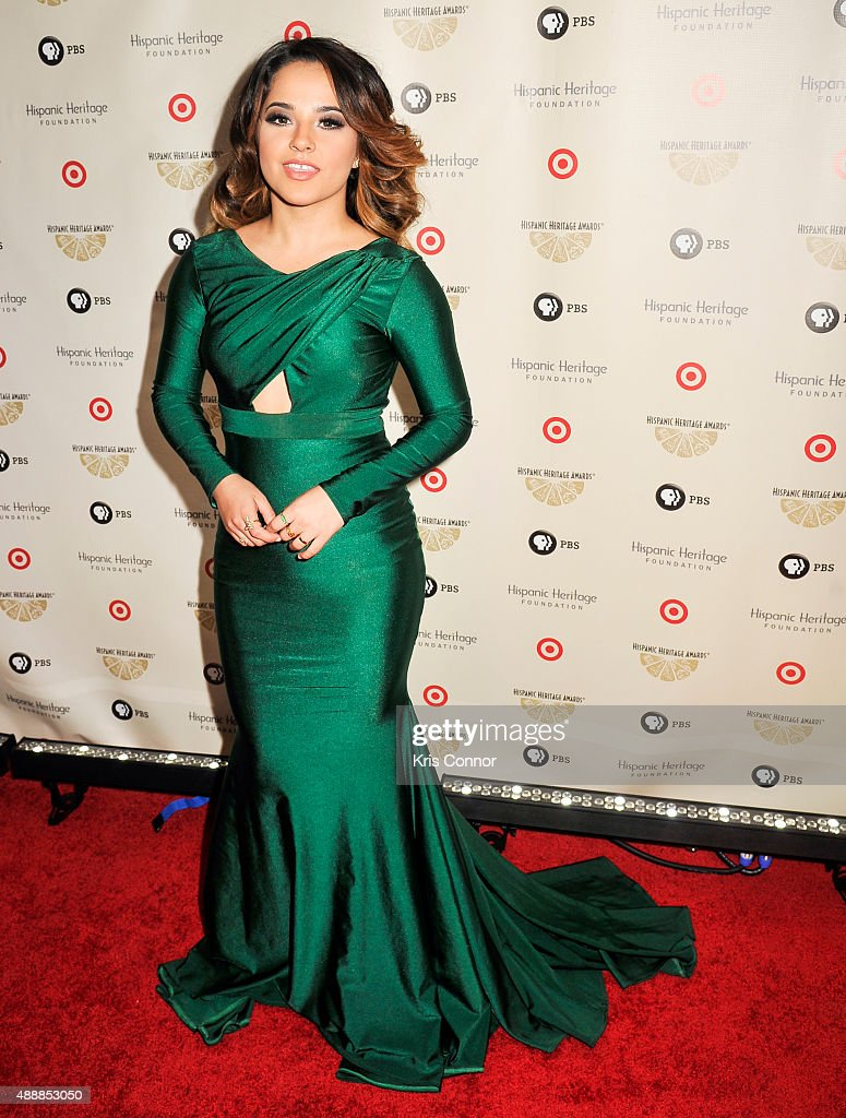 Singer Becky G poses for a photo during the 2015 Hispanic Heritage Awards at the Warner Theatre on September 17, 2015 in Washington, DC.