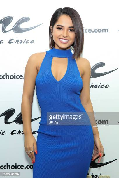 Singer Becky G visits Music Choice on July 27 2017 in New York City