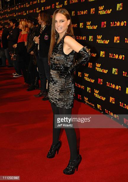 Singer Belinda arrives during rehearsals for Los Premios MTV Latin America 2007 at El Palacio de Los Deportes on October 18, 2007 in Mexico City,...