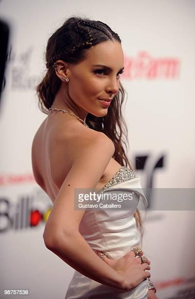 Singer Belinda attends the 2010 Billboard Latin Music Awards at Coliseo de Puerto Rico José Miguel Agrelot on April 29 2010 in San Juan Puerto Rico