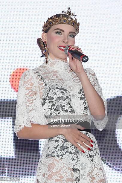 Singer Belinda attends the EstiloDF 3rd anniversary at Joy Room on November 27 2013 in Mexico City Mexico