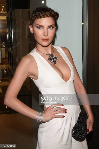 Singer Belinda attends the opening of the new Chanel boutique store at Saks Fifth Avenue Santa Fe on November 24 2010 in Mexico City Mexico