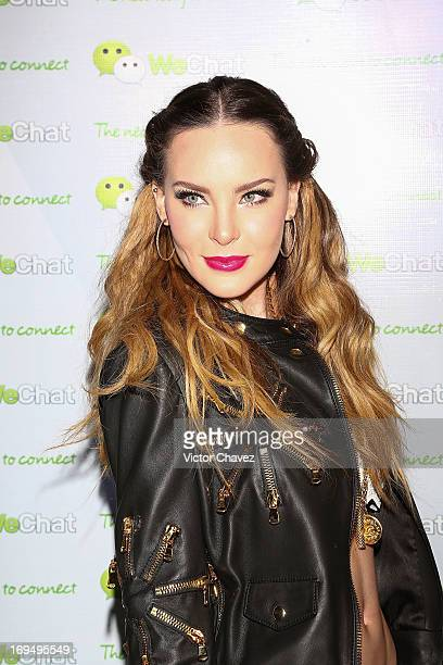 Singer Belinda attends the WeChat launch Mexico at Joy Room Antara Polanco on May 14 2013 in Mexico City Mexico