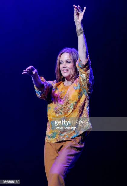 Singer Belinda Carlisle of The GoGo's performs a rare show at Fox Theater on June 28 2018 in Oakland California