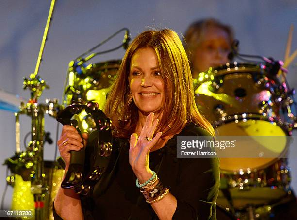 "Singer Belinda Carlisle of The GoGo's performs at ""Yesssss"" MOCA Gala 2013 Celebrating the Opening of the Exhibition Urs Fischer at MOCA Grand Avenue..."