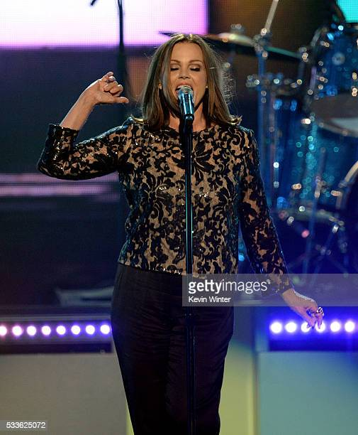 Singer Belinda Carlisle of The GoGo's performs onstage during the 2016 Billboard Music Awards at TMobile Arena on May 22 2016 in Las Vegas Nevada