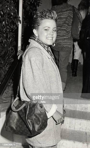 Singer Belinda Carlisle sighted on November 30 1984 at Spago Restaurant in West Hollywood California