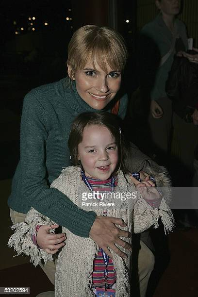 Singer Belinda Emmett attends with her niece Cassidy the opening night of Disney On Ice' Princess Classics at the Entertainment Centre on July 06...