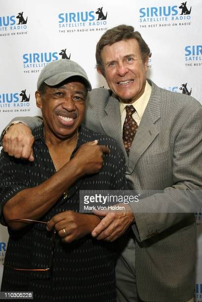 Singer Ben E King and legendary DJ Bruce Cousin Brucie Morrow at the official announcement of Cousin Brucie Exclusive Deal with SIRIUS Satellite...