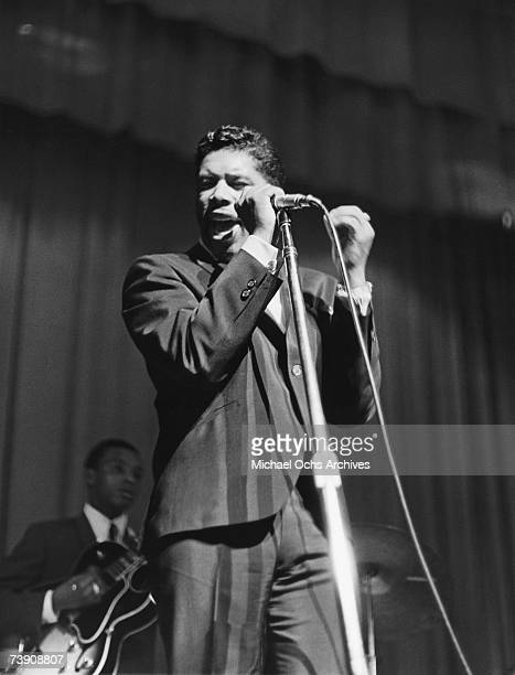 B singer Ben E King performs at the Apollo Theatre in 1961 in New York New York