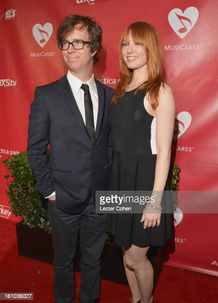 Singer Ben Folds and actress Alicia Witt attend MusiCares Person Of The Year Honoring Bruce Springsteen at Los Angeles Convention Center on February...