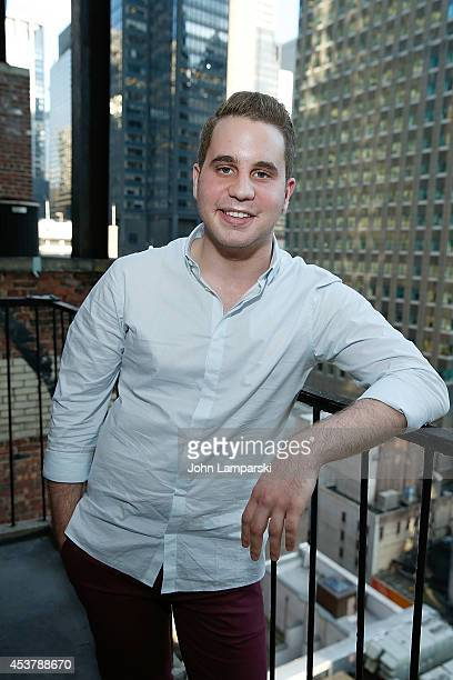Singer Ben Platt photographed before his performance at 54 Below on August 18 2014 in New York City