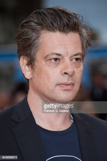 Singer Benjamin Biolay poses on the red carpet before the screening of the movie 'The Zookeepr's Wife' during the 43rd Deauville American Film...