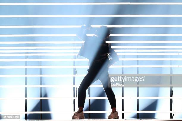 Singer Benjamin Ingrosso of Sweden performs during the 2018 Eurovision Song Contest Grand Final at the Altice Arena in Lisbon Portugal on May 12 2018