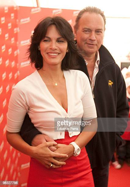 Singer Bertin Osborne and Fabiola Martinez attend preparation of a large cake at Royal tent on April 8 2010 in Madrid Spain