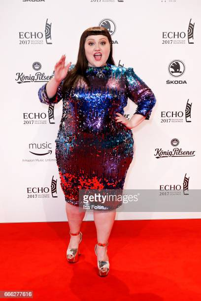 US singer Beth Ditto during the Echo award red carpet on April 6 2017 in Berlin Germany